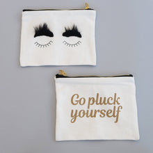 Go Pluck Yourself Makeup Zip Bag