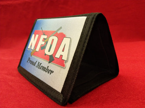 NFOA Black TriFold Nylon Wallet - AP Touch