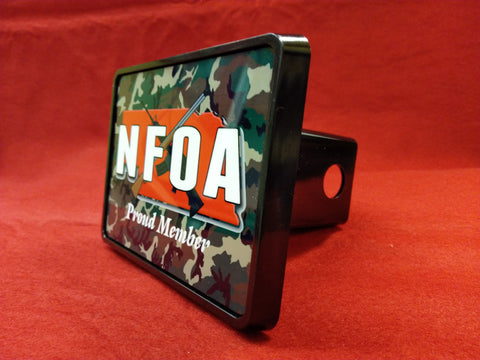 NFOA Rectangle Trailer Hitch Cover - AP Touch