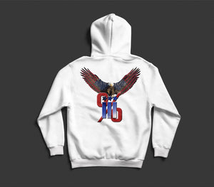 Solar Hoodie Shirt - Adult - White with Eagle - AP Touch