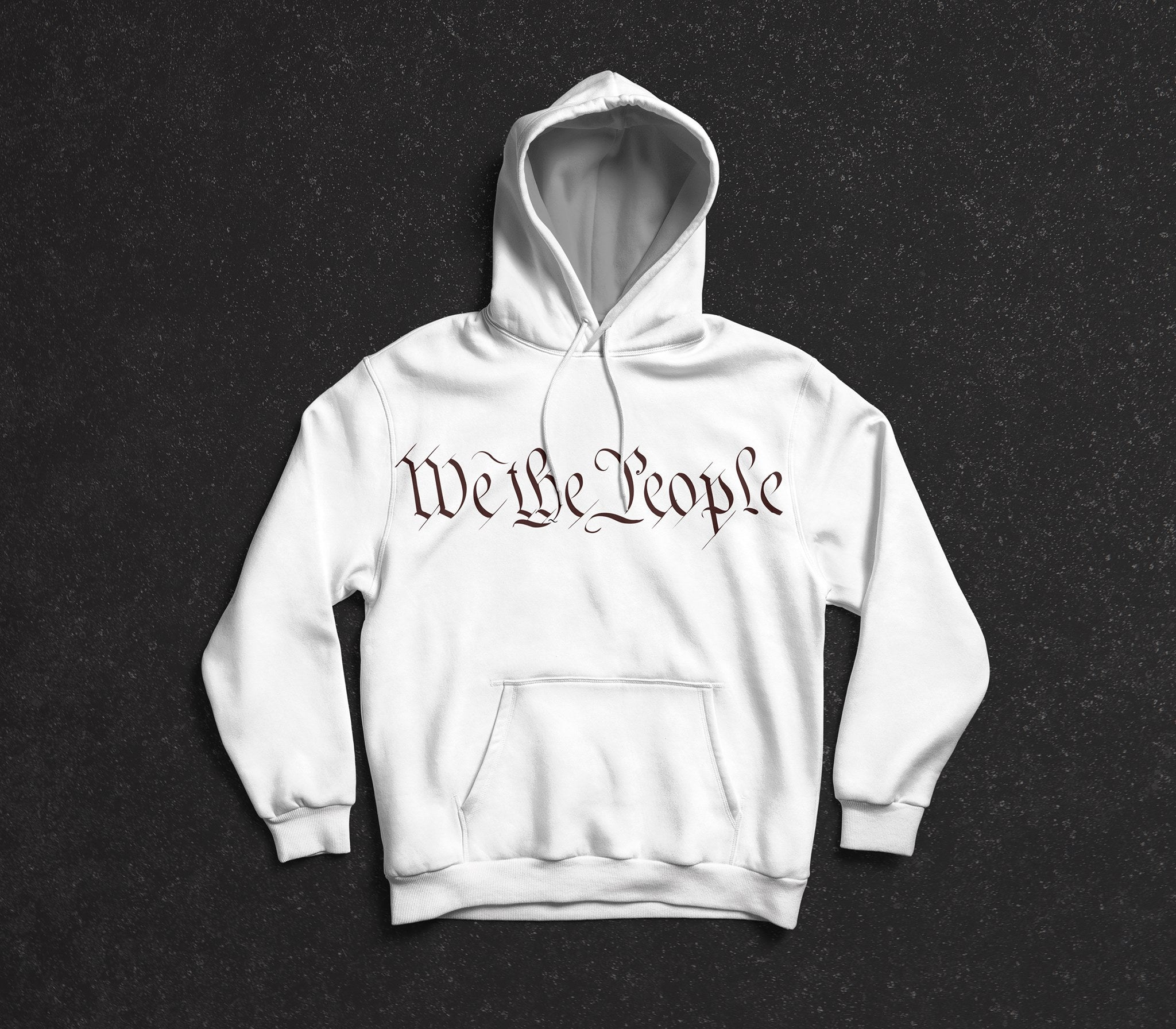 Solar Hoodie Shirt - Adult - White with We The People Logo - AP Touch