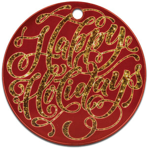 Clear Acrylic Round Ornament - AP Touch