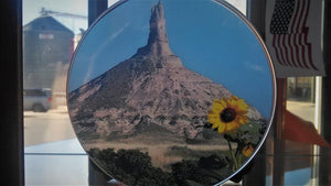 Chimney Rock Round Storage Tin - AP Touch