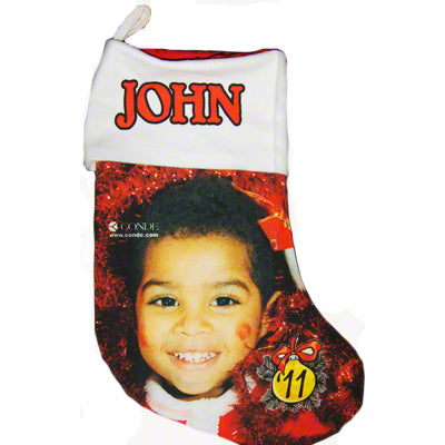"13.5"" Gaming Cloth Red Lined Holiday Stocking - AP Touch"