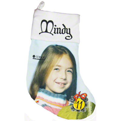 "13.5"" White Gaming Cloth Christmas Stocking - AP Touch"