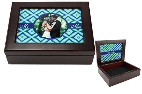 Mahogany Keepsake Box - 2-sided Al Insert - AP Touch