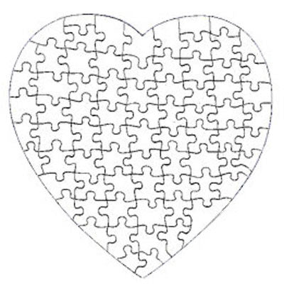 Heart Shaped 75 Piece Gloss Puzzle - AP Touch
