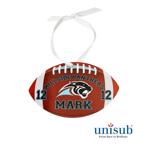 Aluminum 2 Sided Gloss Football Ornament - AP Touch