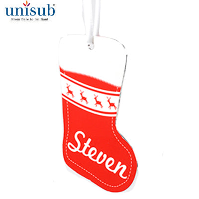Stocking 2 Sided Aluminum Ornament - AP Touch