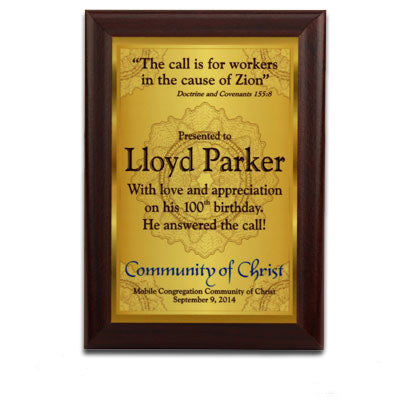 "5x7 5/8"" Cherry MDF Plaque - White Gloss - AP Touch"