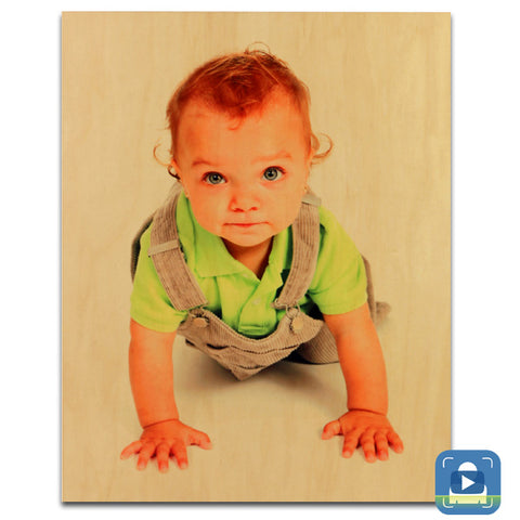 5x7  Natural Wood Photo Panel - AP Touch