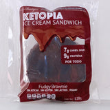 8-PACK KETOPIA ICE CREAM SANDWICH FUDGY BROWNIE