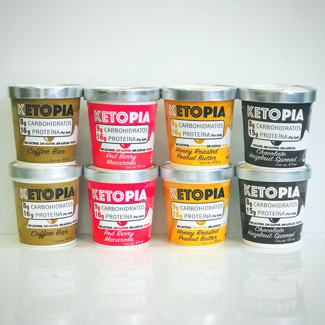 8-Pack Variety Flavors Ketopia Ice Cream