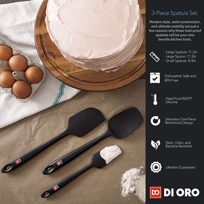 Chef's Choice 4-Piece Premium Silicone Spatula Set - DI ORO