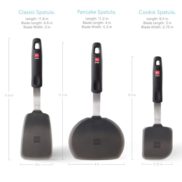 Designer Series Everyday 3-Piece Spatula Turner Set - DI ORO