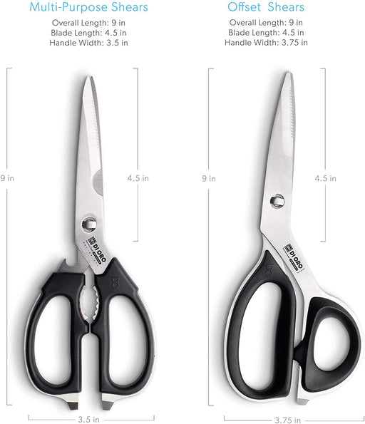 DI ORO 2-Piece Stainless Steel Kitchen Scissor Set - DI ORO