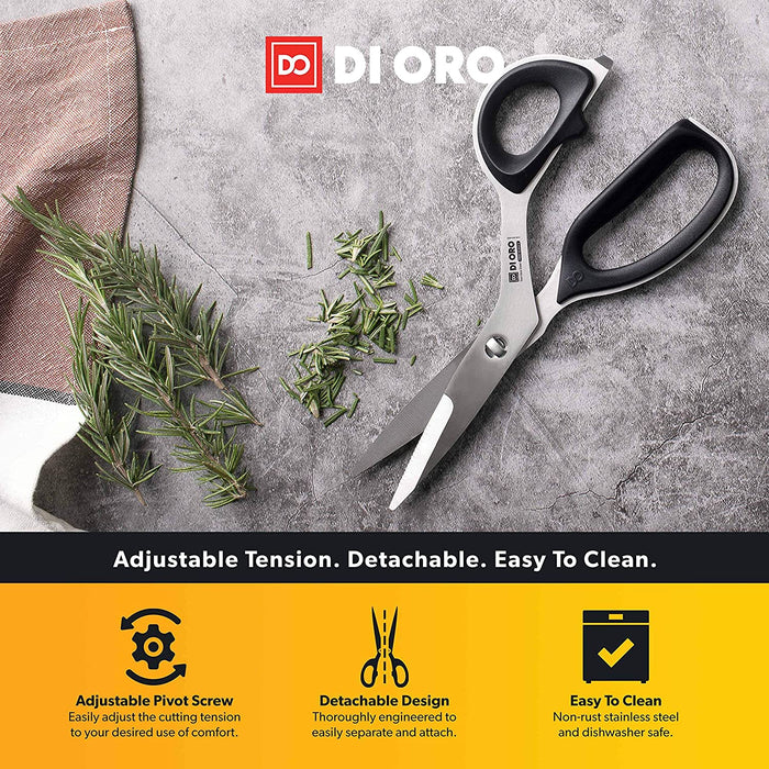 High-Carbon Stainless Steel Offset Kitchen Scissors - DI ORO