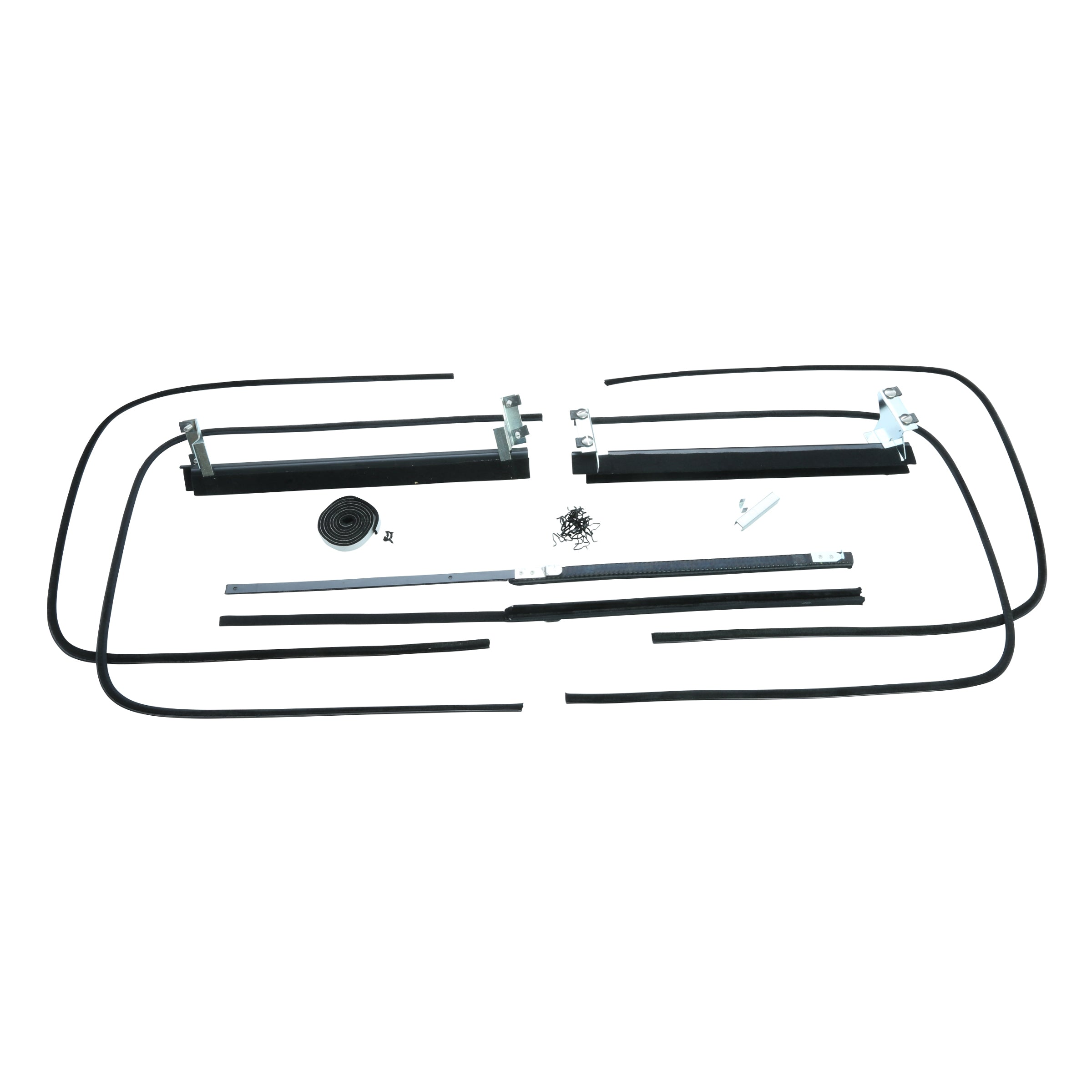 Window Channel Kit (Front Door) • 1941-42 Ford 5-Window Coupe & Fordor Sedan (Angled Bracket)