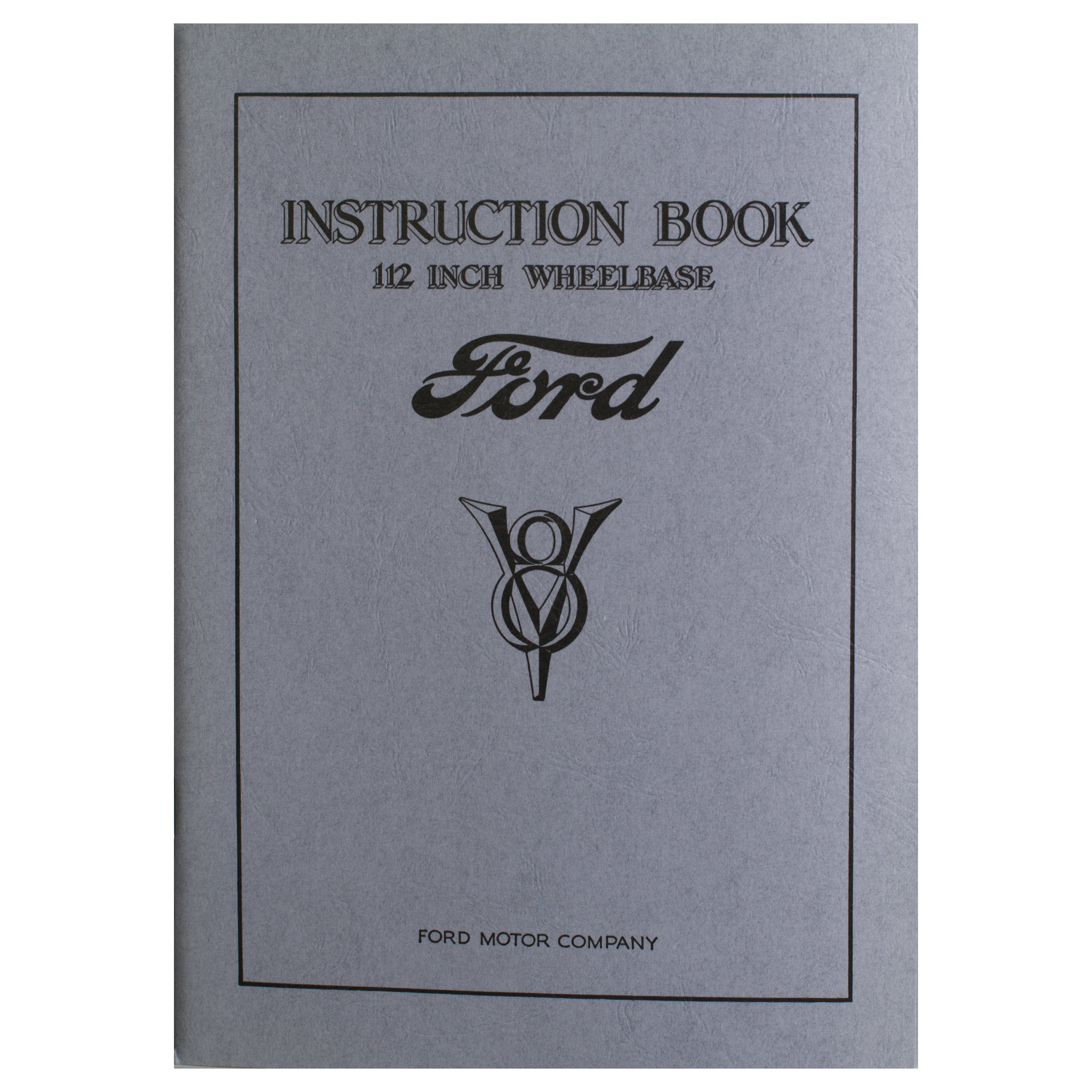 Owners Manual • 1933 Ford V-8