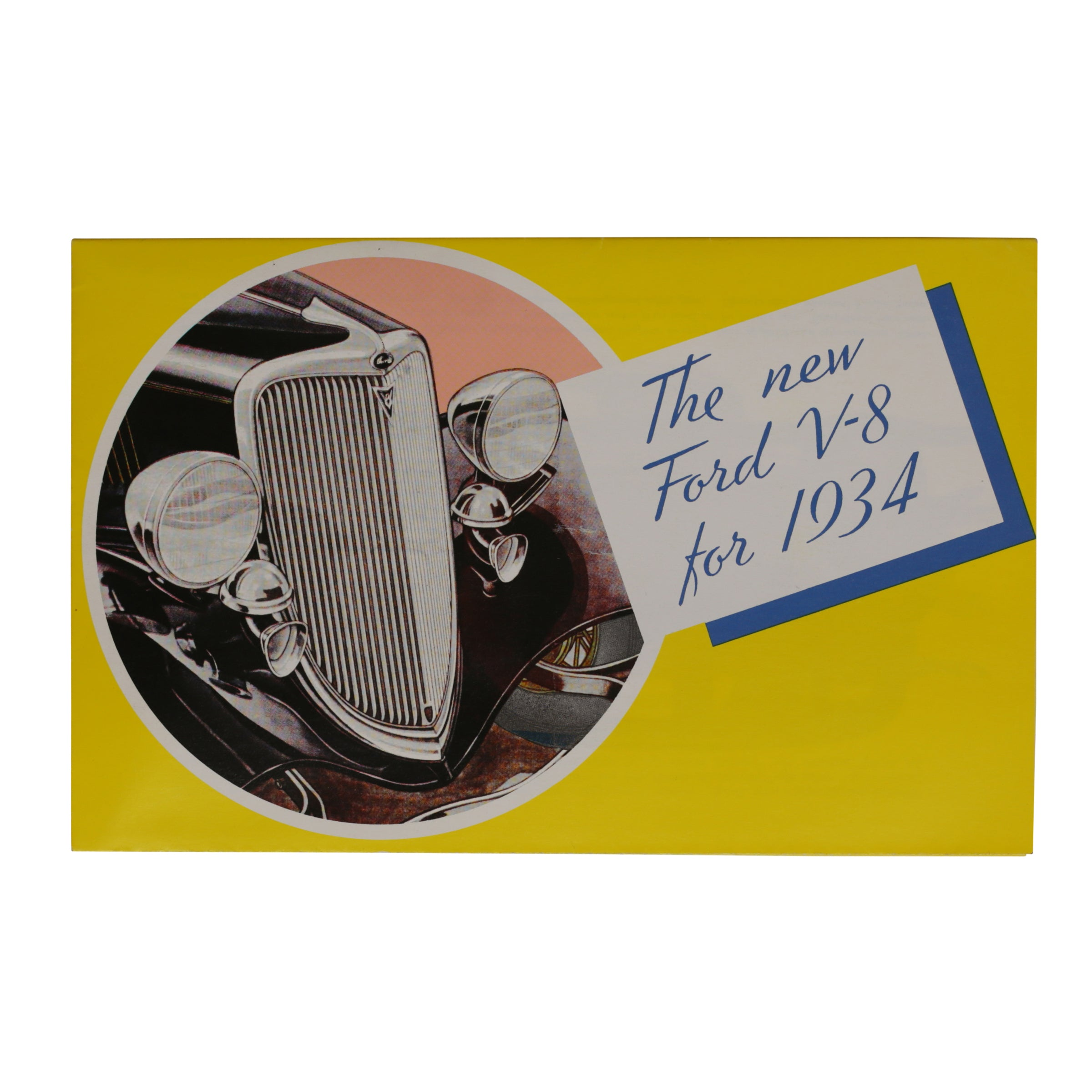 "Sales Brochure ""New for V-8"" • 1934 Ford"
