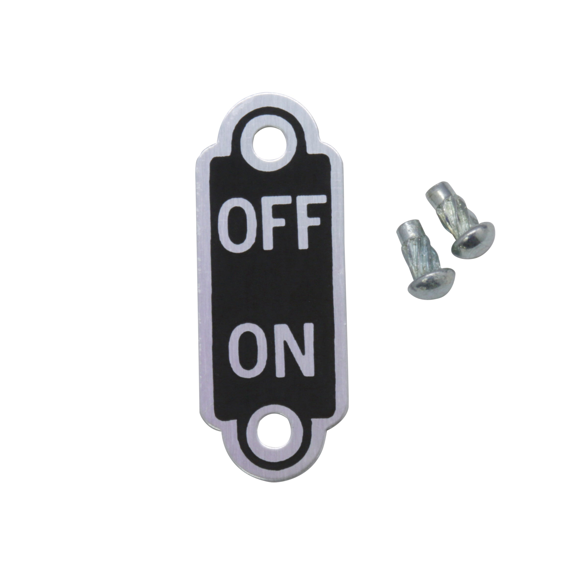 Ignition Switch On-Off Plate • 1933-34 Ford