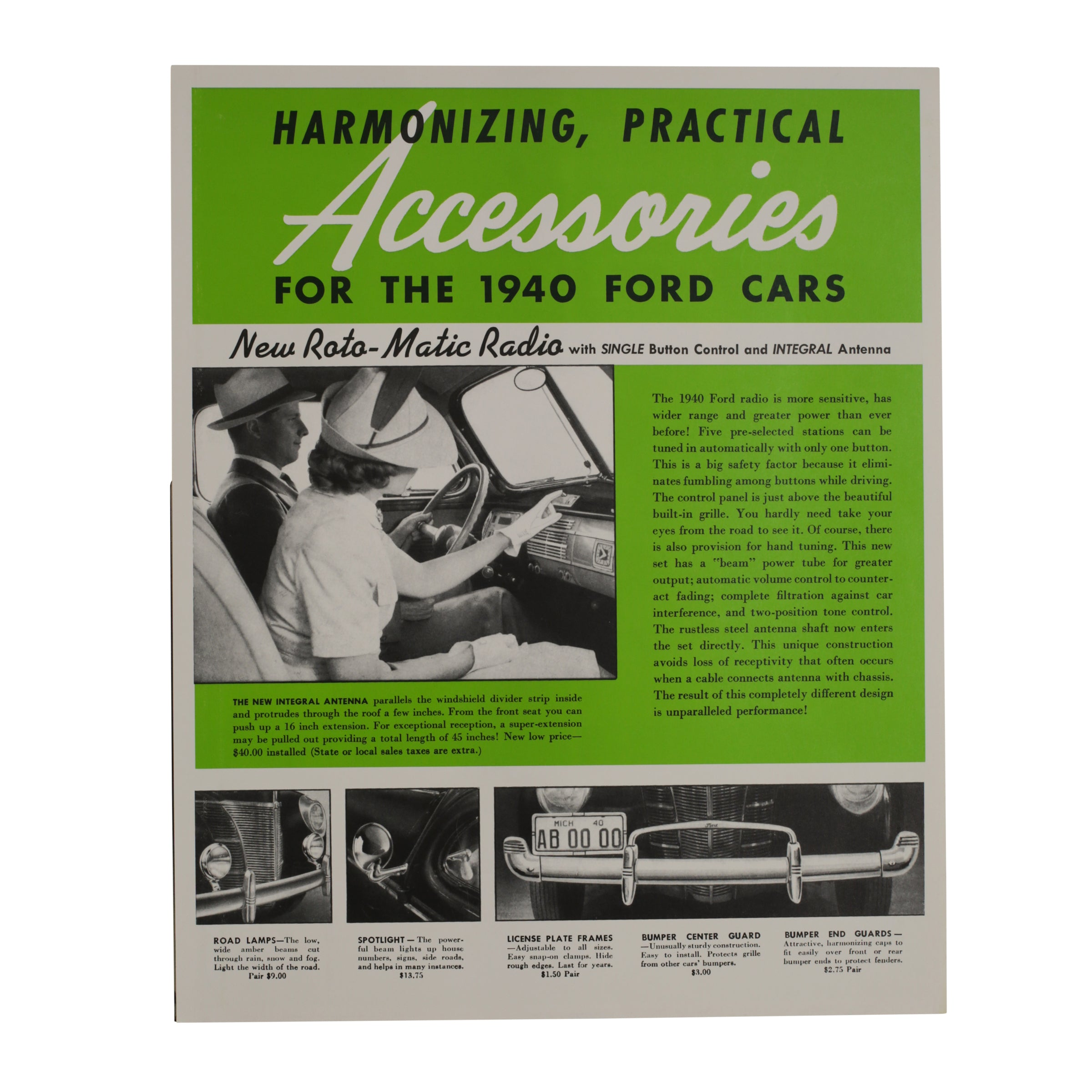 Accessories Brochure  • 1940 Ford