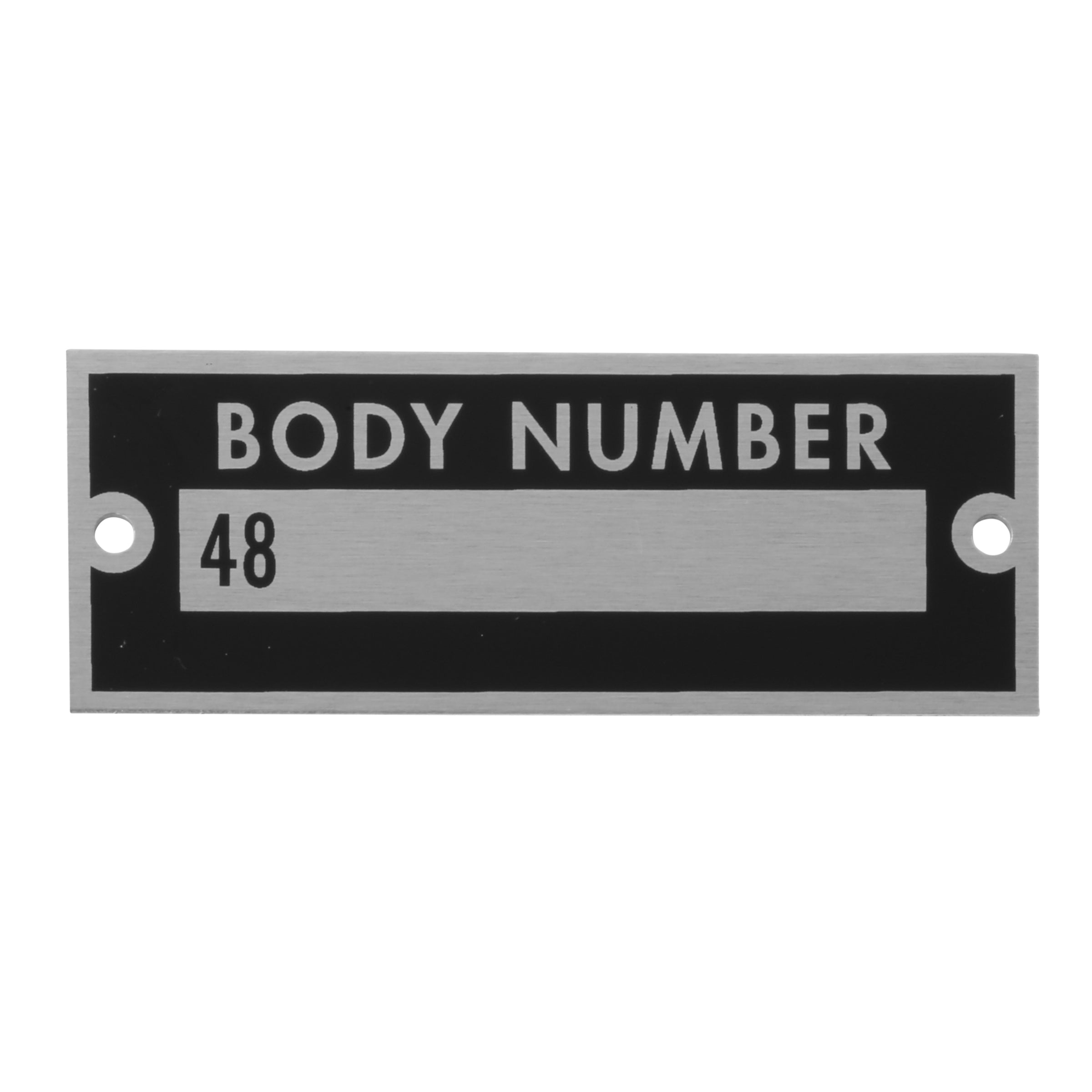 Body Number Plate • 1935 Ford