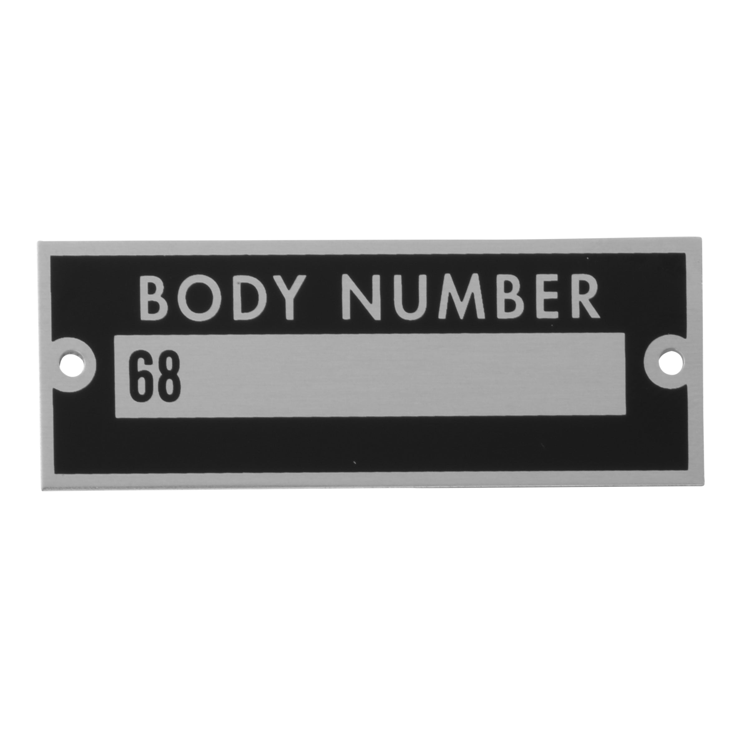 Body Number Plate • 1936 Ford