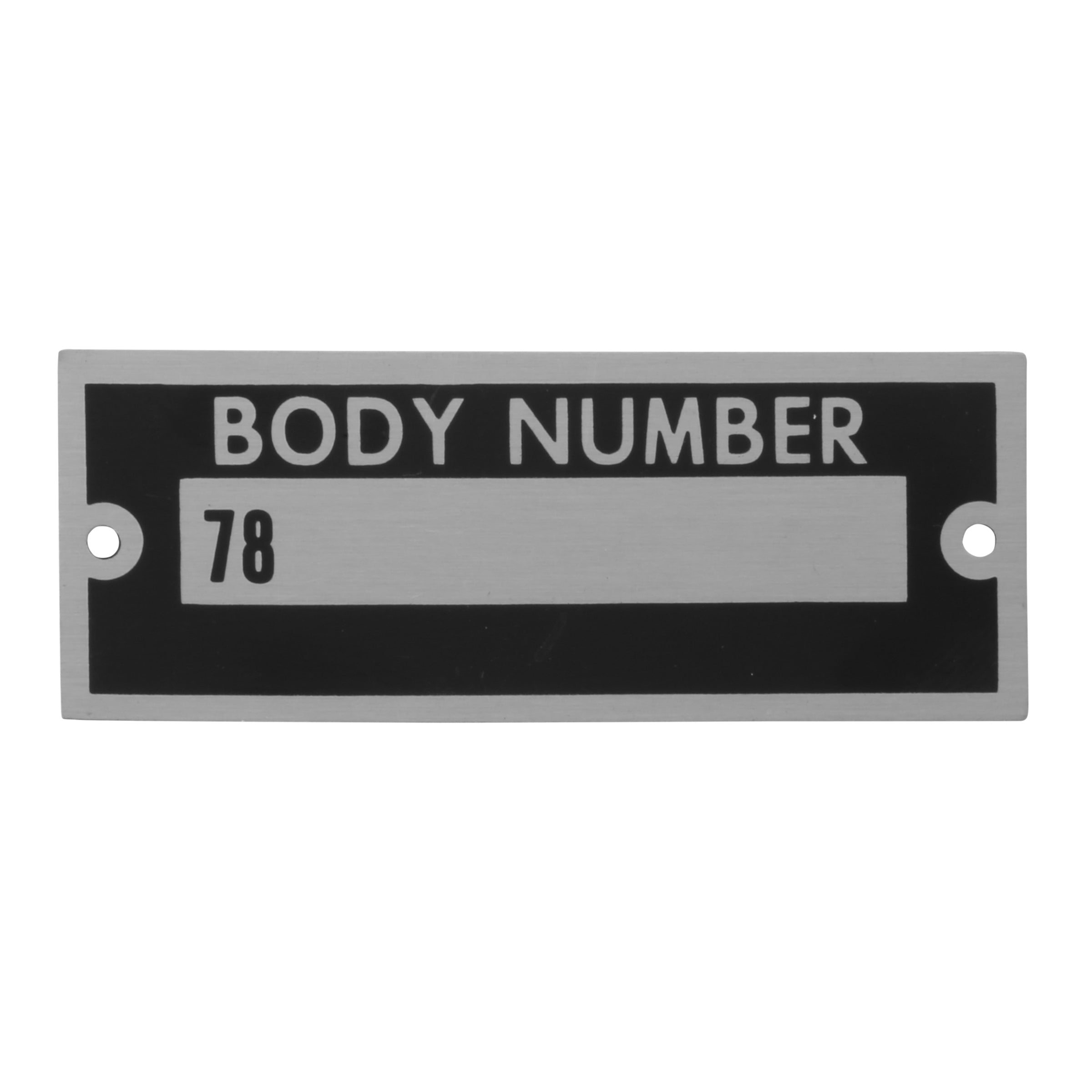 Body Number Plate • 1937