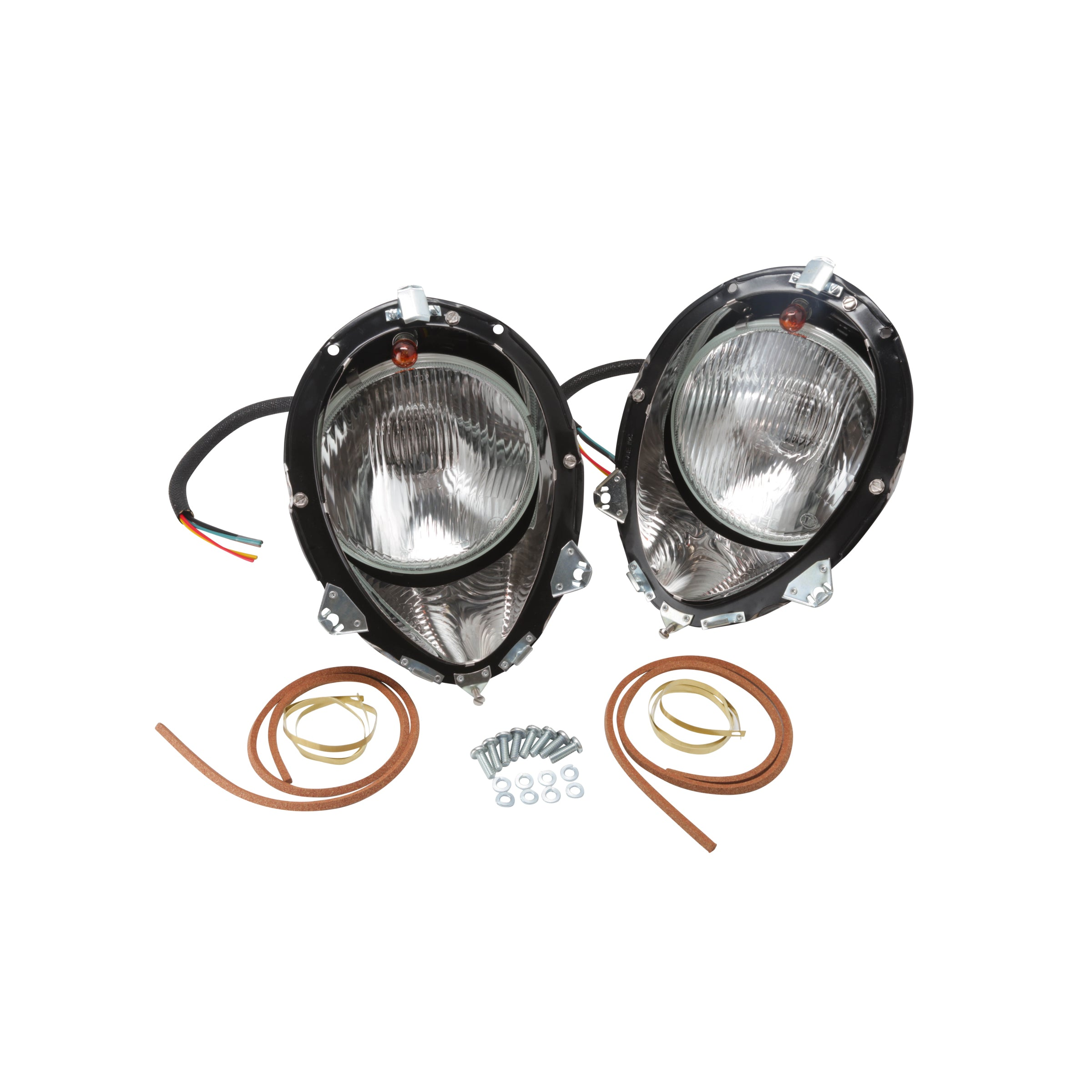 Quartz Halogen Headlight Kit • 1937-38 Ford Passenger & 1939 Standard