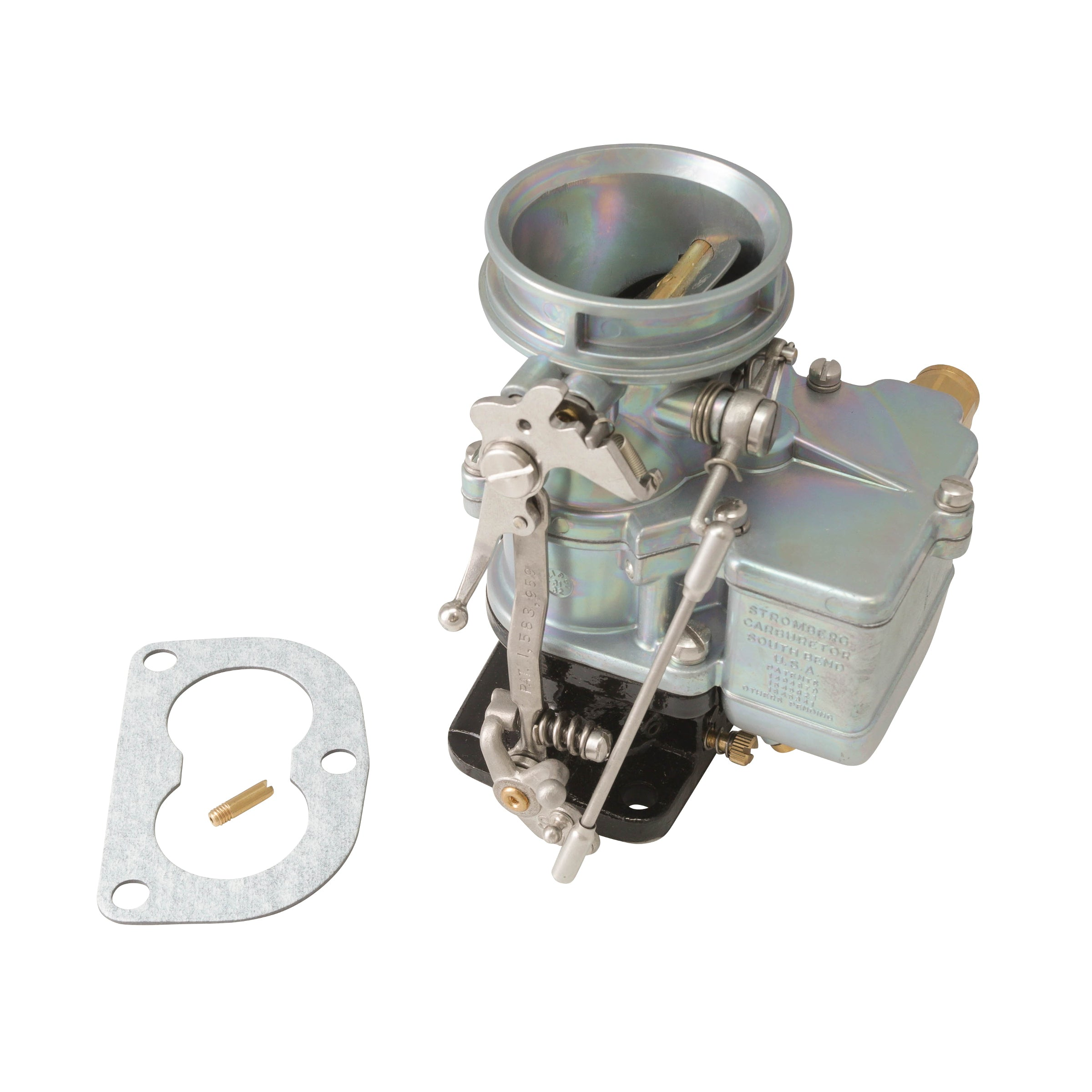 Genuine Stromberg 97 Carburetor • Chrome-Plated Body