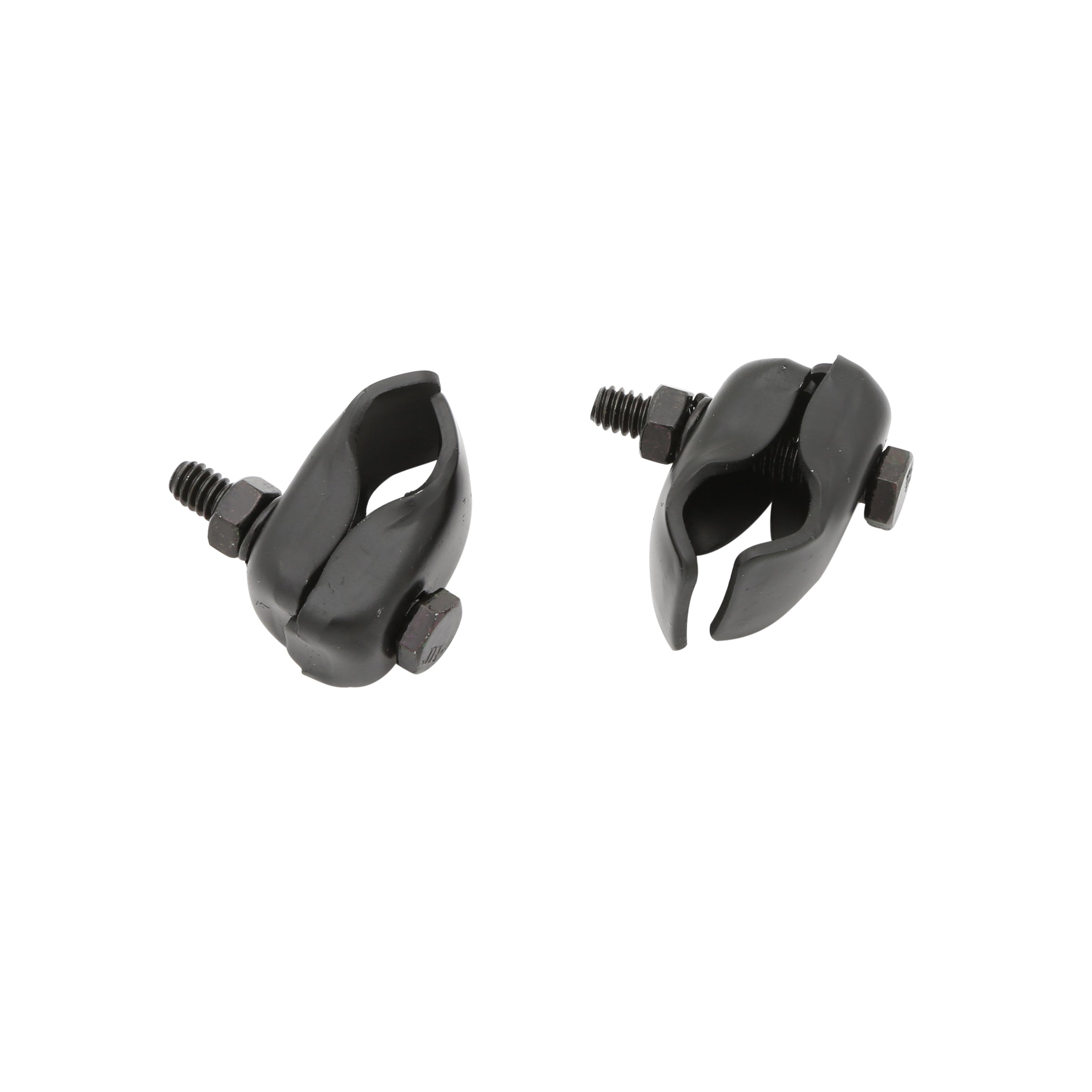 Front License Plate Clamp Set (Black) • 1928-31