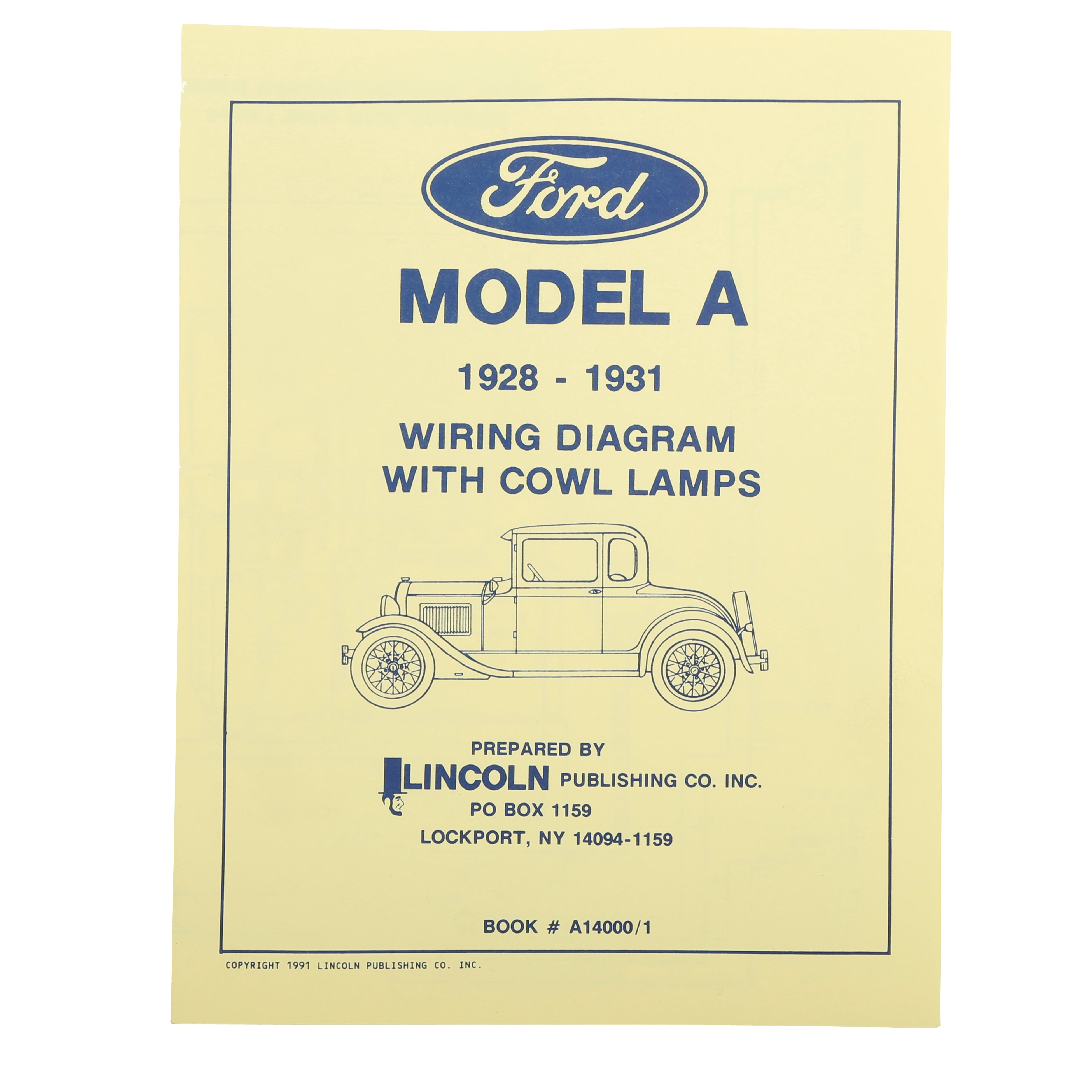 Model A Ford Wiring Diagram with Cowl Lamps