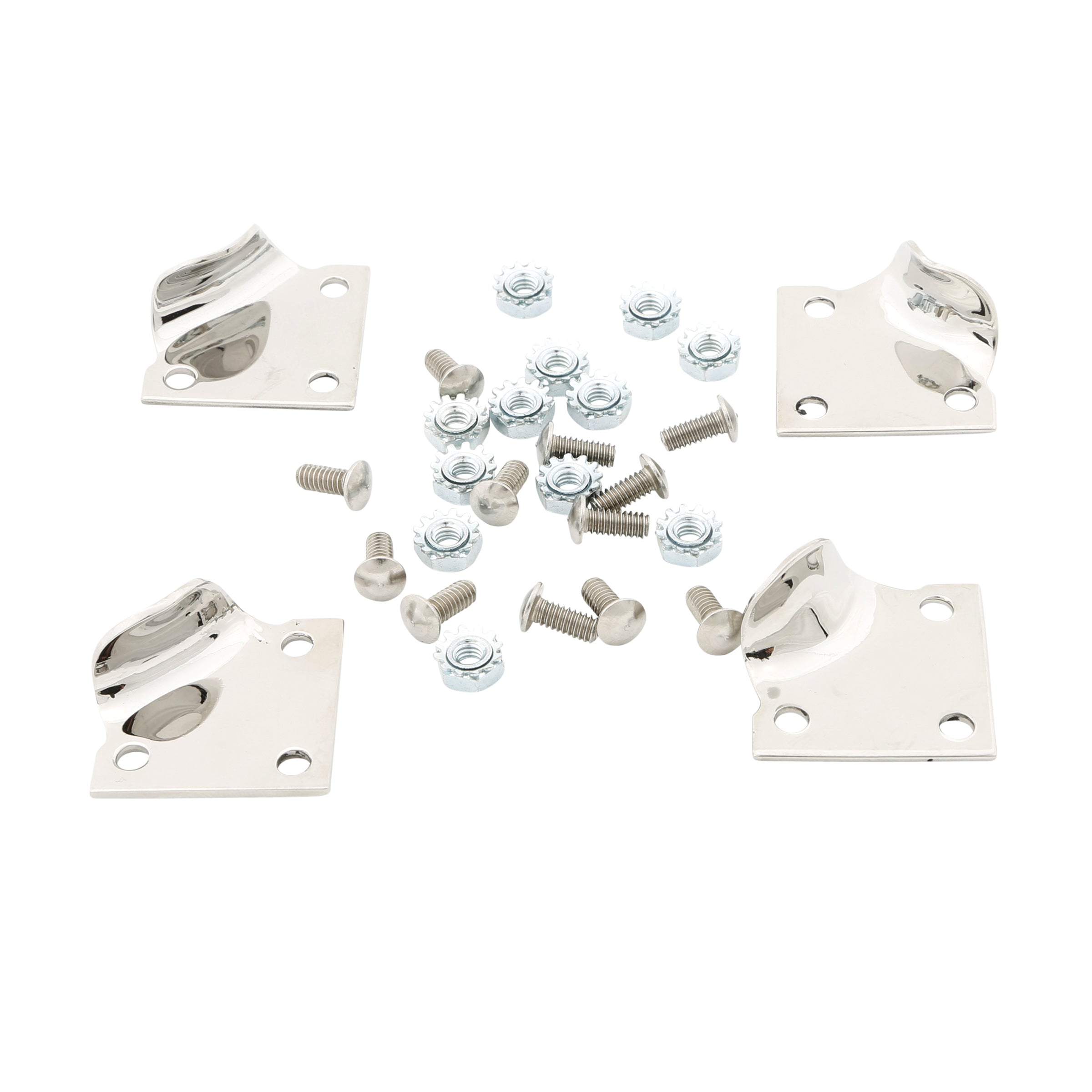 Hood Latch Clip Bracket Set (Stainless Steel) • 1928-31 Model A Ford