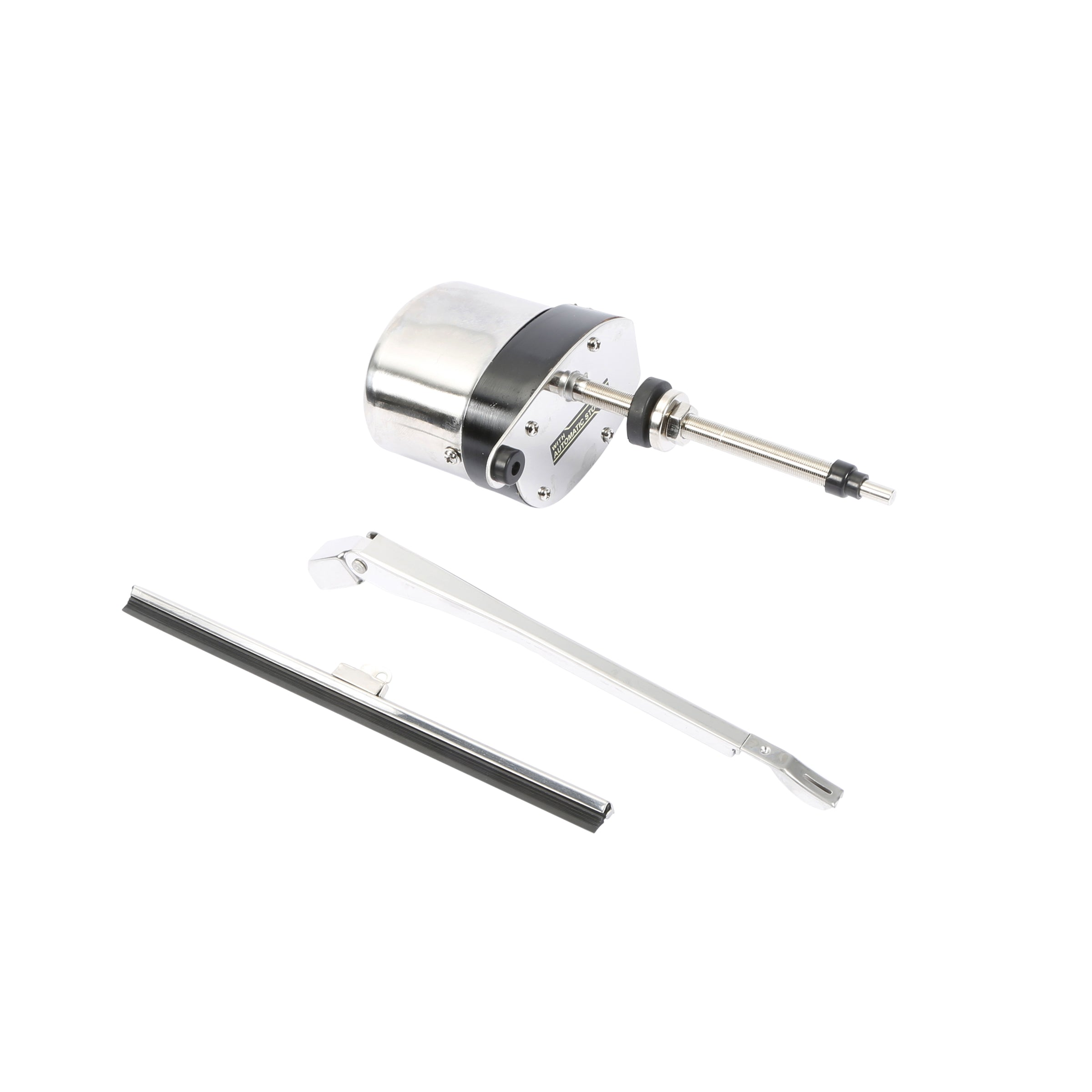 Windshield Wiper Motor Kit (Stainless Steel 12 Volt) • 1932-39 Ford Passenger & Pickup