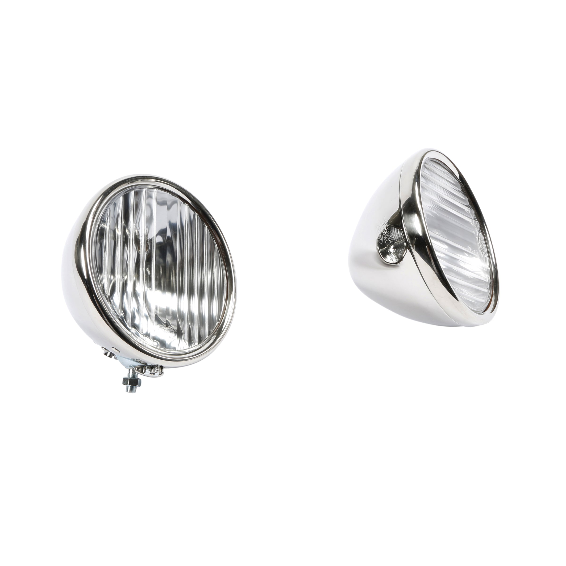 Headlights (6 Volt 2 Bulb Reflector) • 1928-29 Stainless w/Fluted Lens