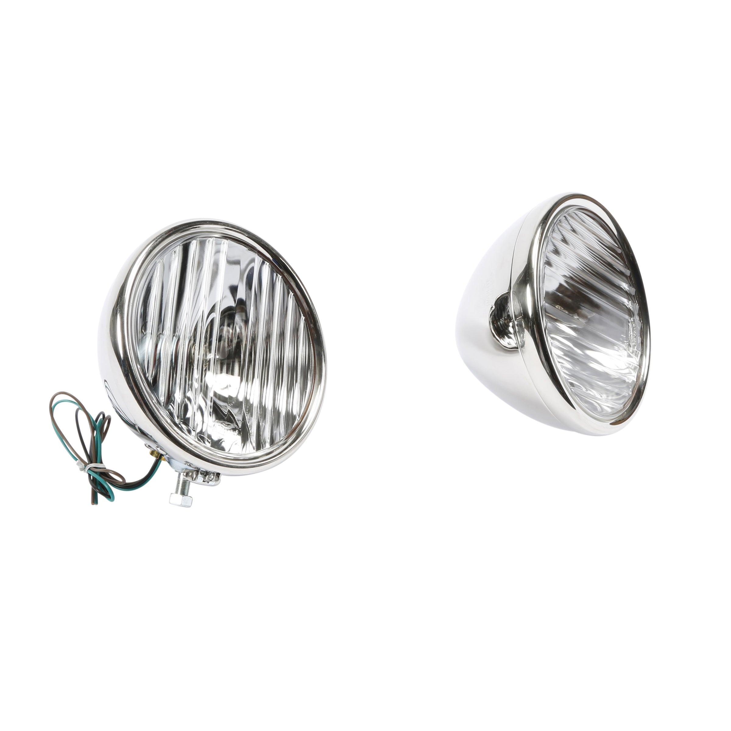 Headlights (12 Volt Halogen) • 1928-29 Stainless w/Fluted Lens