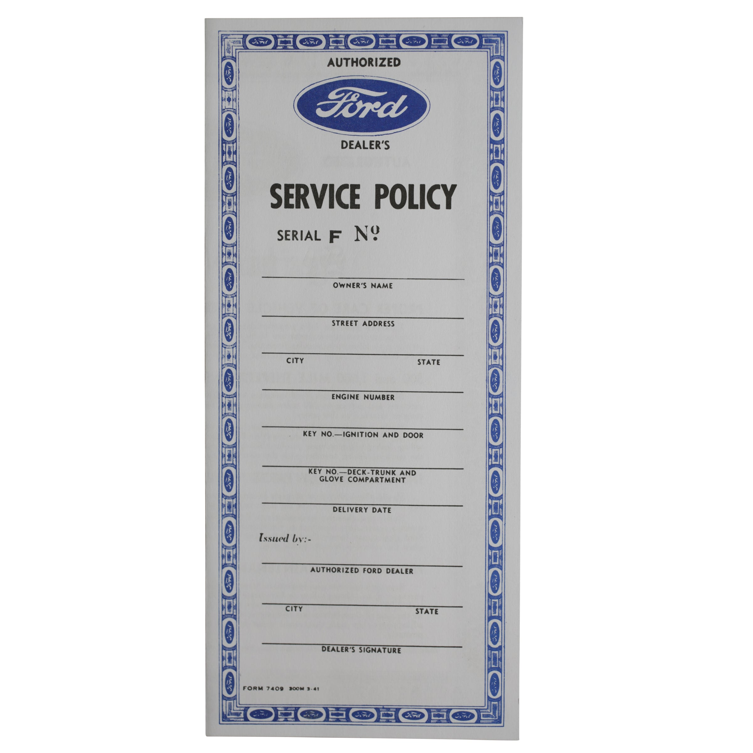 Service Policy • 1942-48 Ford