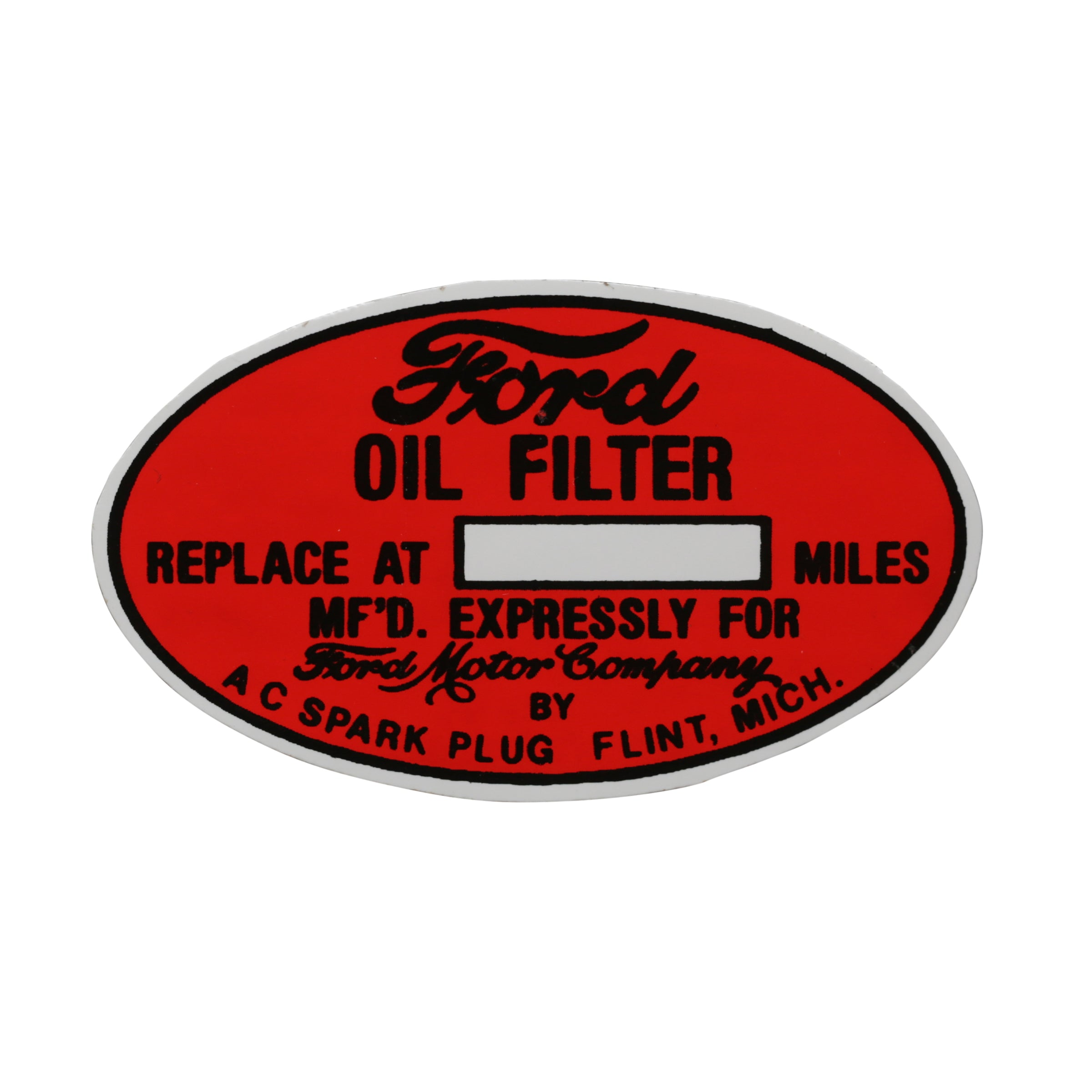 Engine Compartment Decal • 1935-48 Ford
