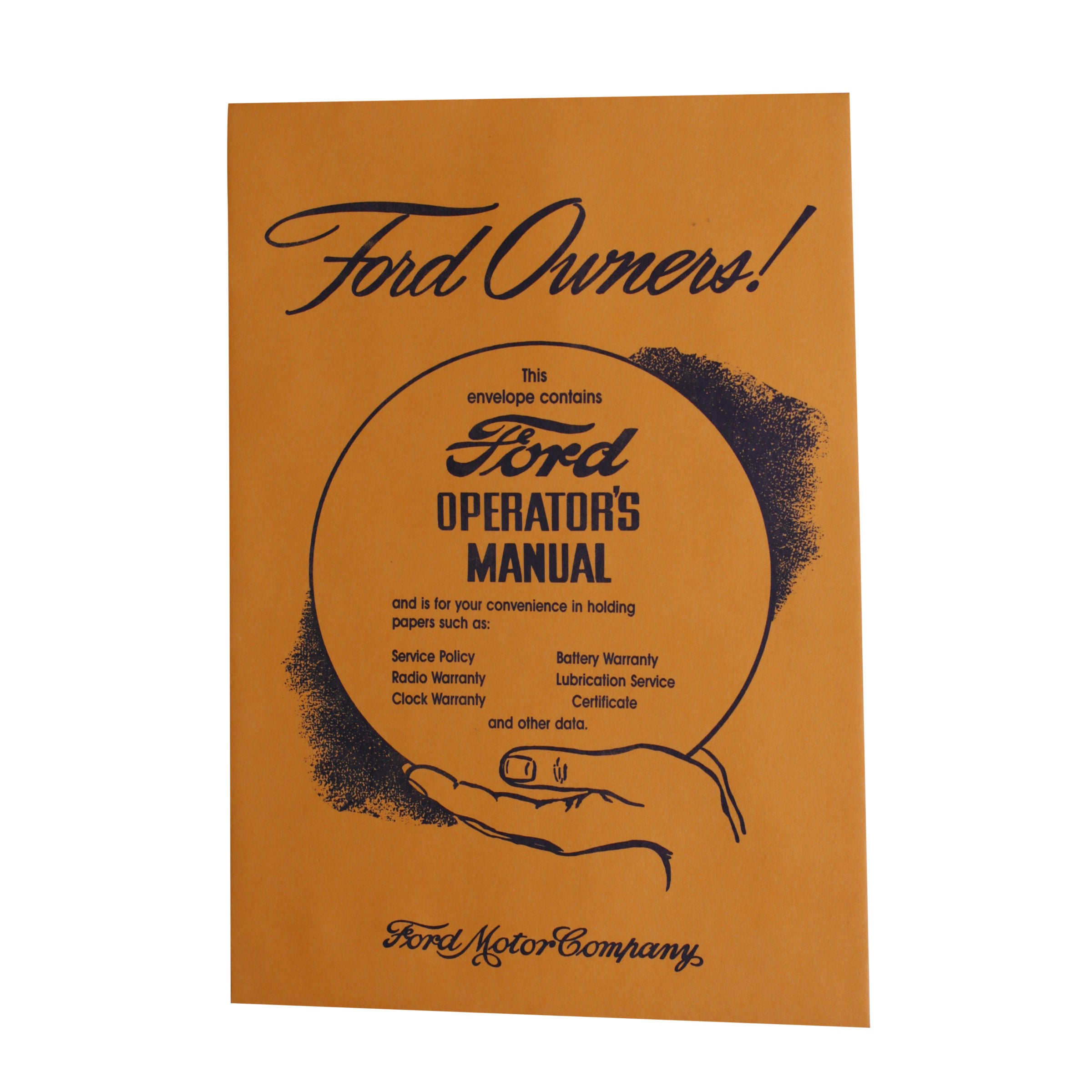 Owners Manual Envelope • 1946-48 Ford