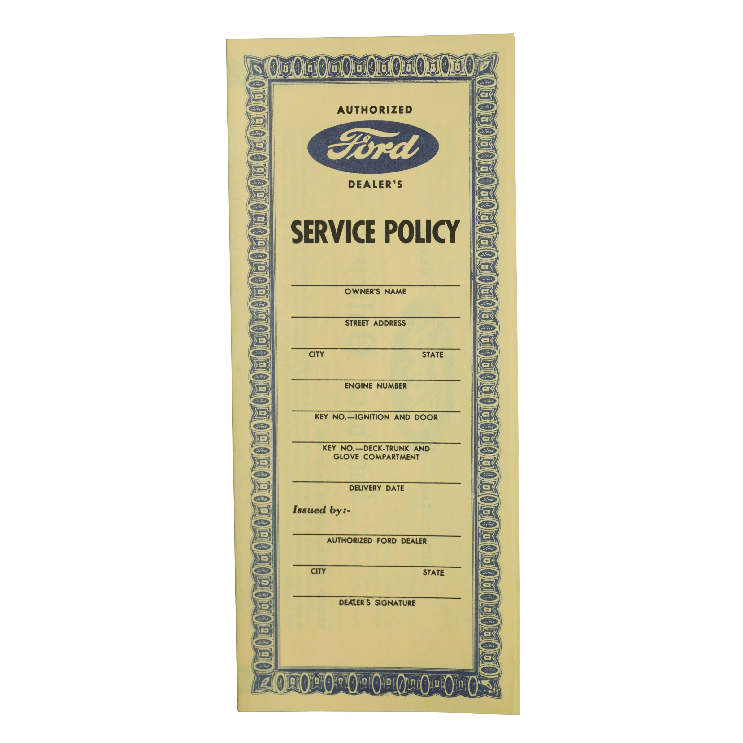 Service Policy • 1939-41 Ford