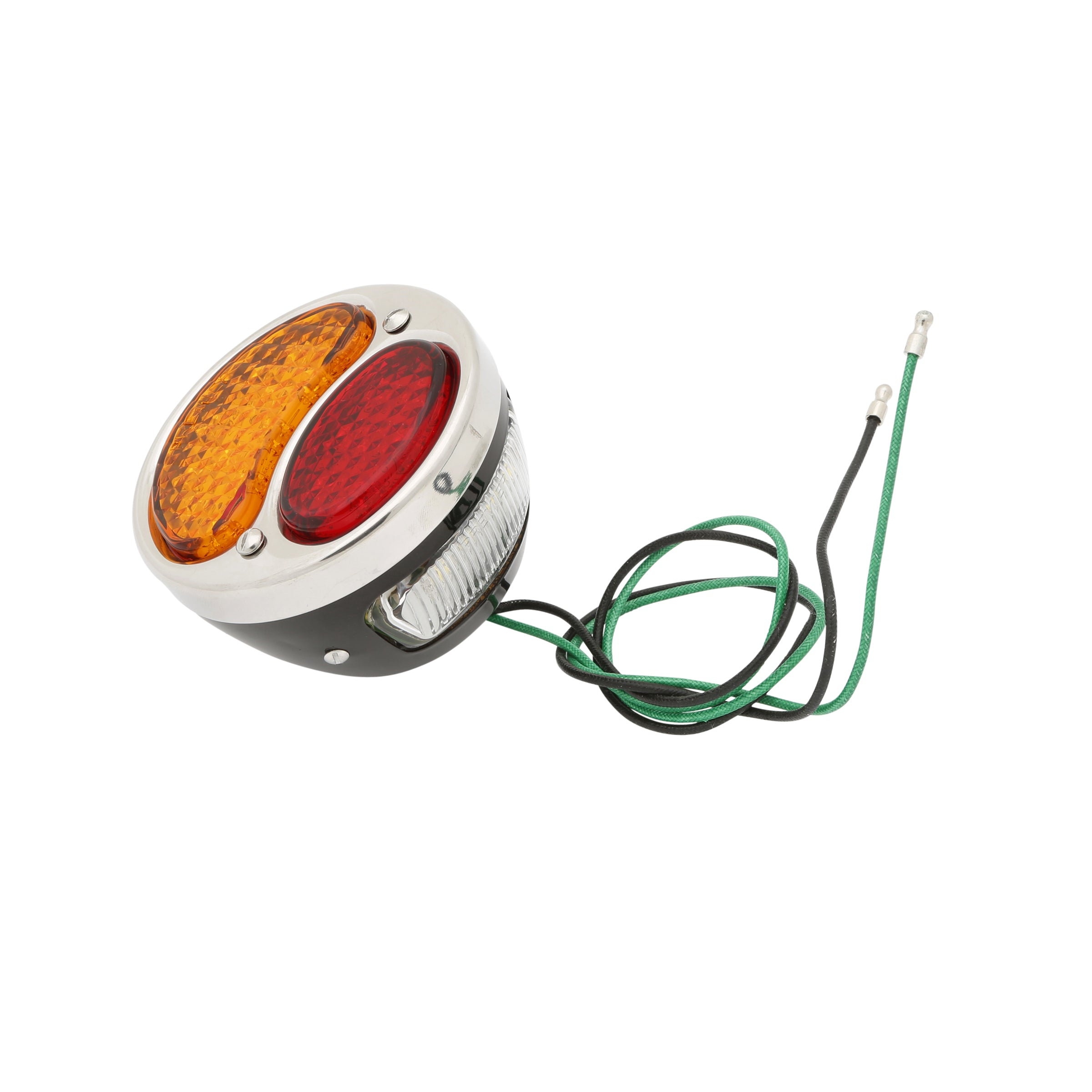 Taillight (LED 12 Volt Red/Amber Lens) • 1928-31 Model A Ford Black Left