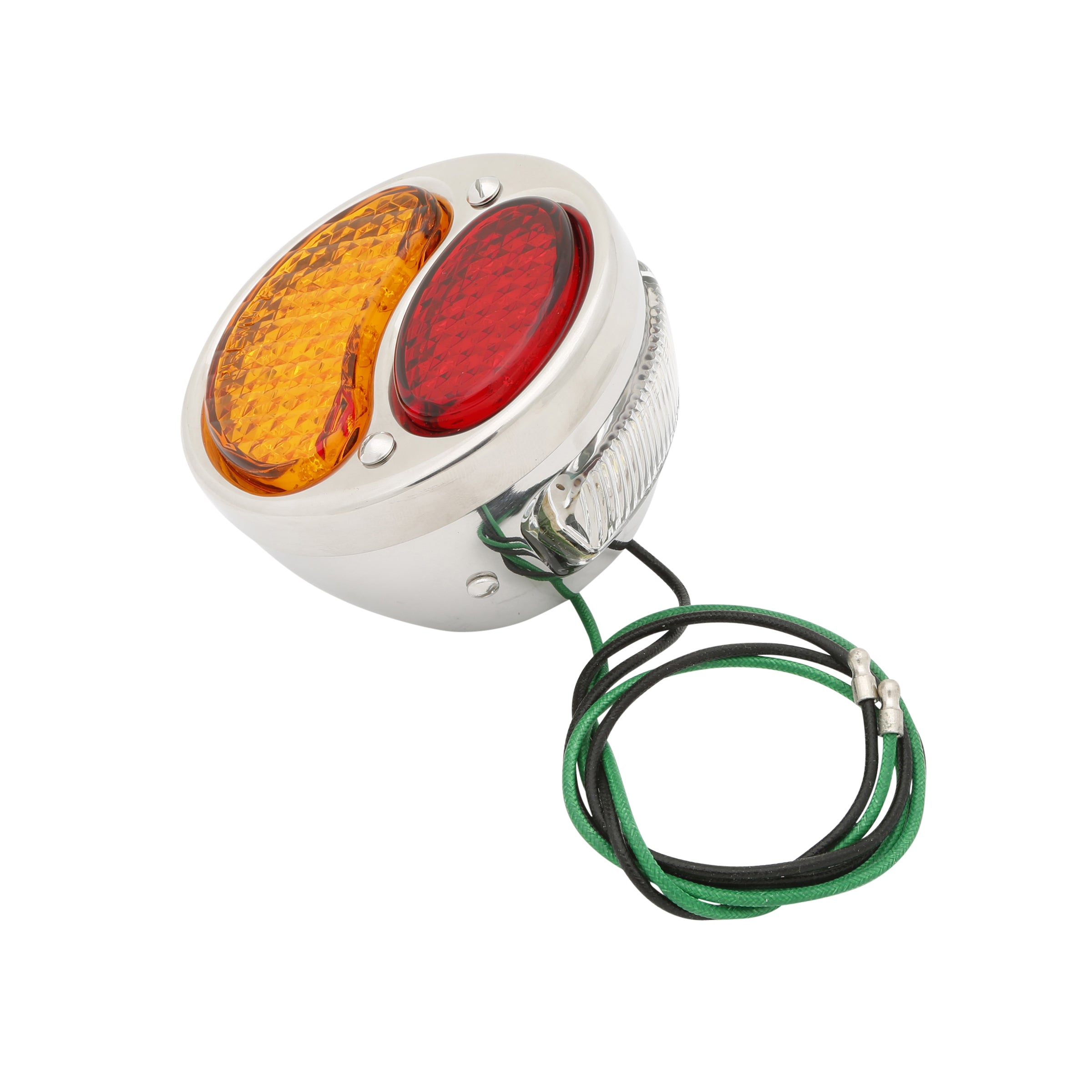 Taillight (LED 6 Volt Red/Amber Lens) • 1928-31 Model A Ford Stainless Steel Left