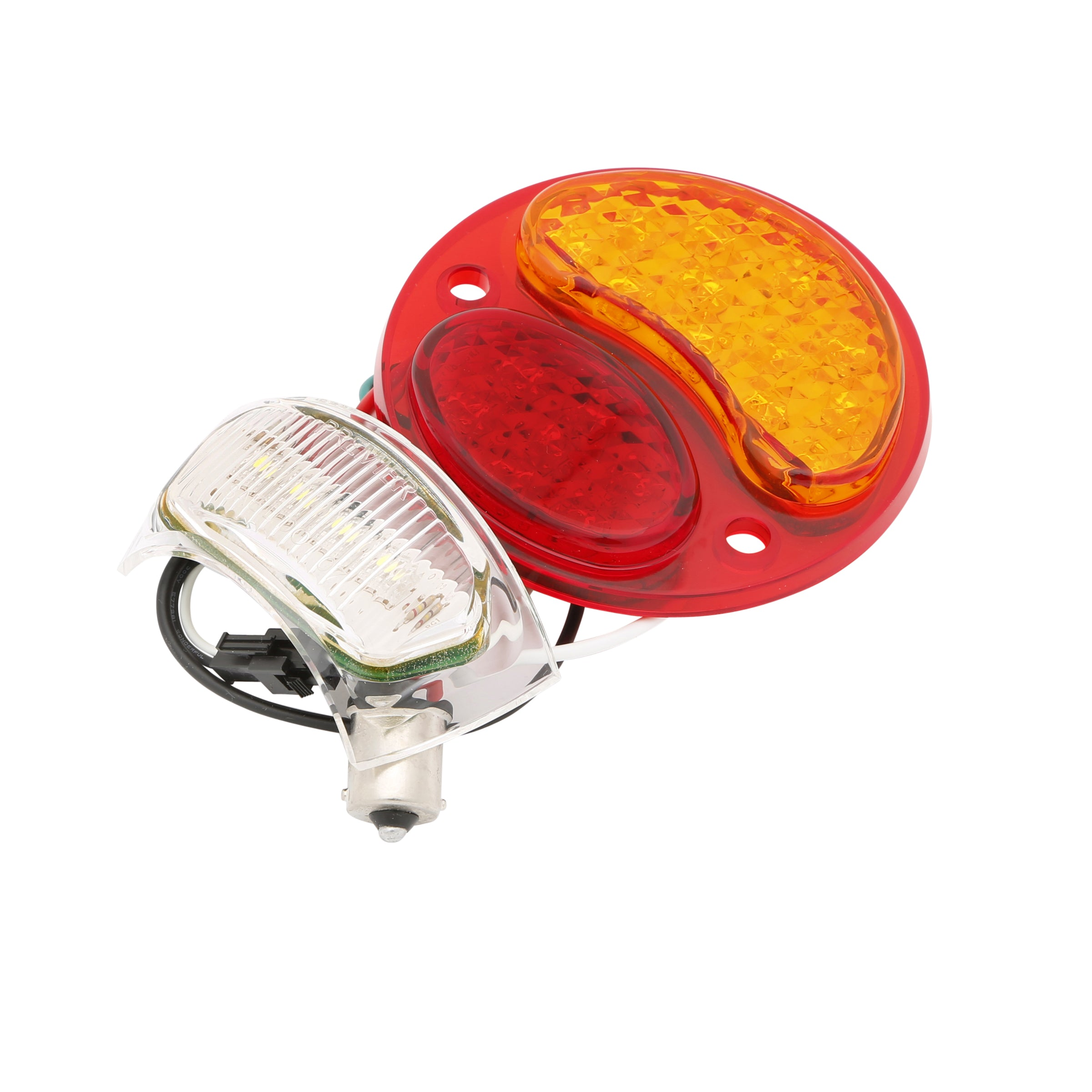 Taillight Lens Insert (LED 12 Volt Red/Amber) • 1928-31 Model A Ford Left