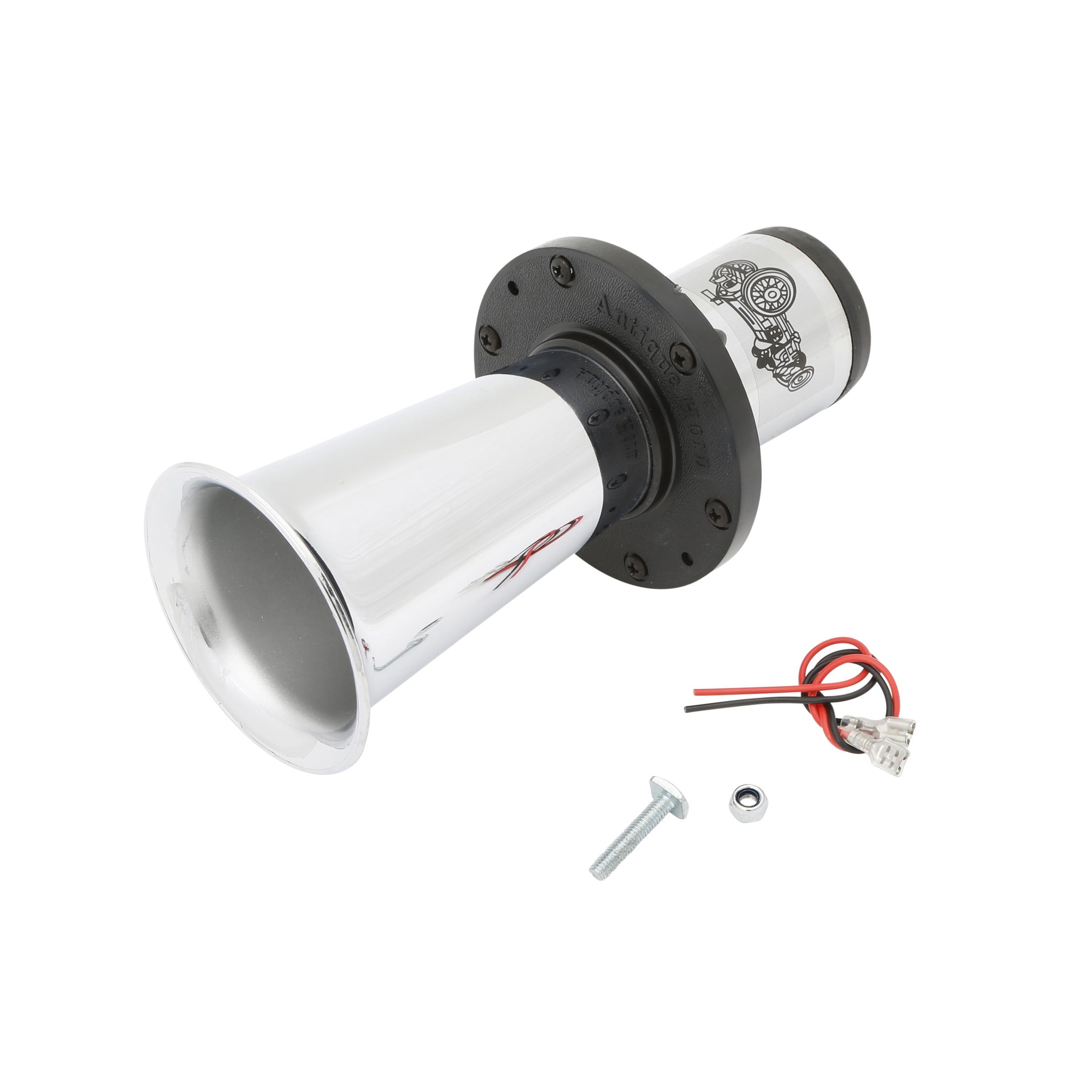 Replacement Horn • Chrome 12v