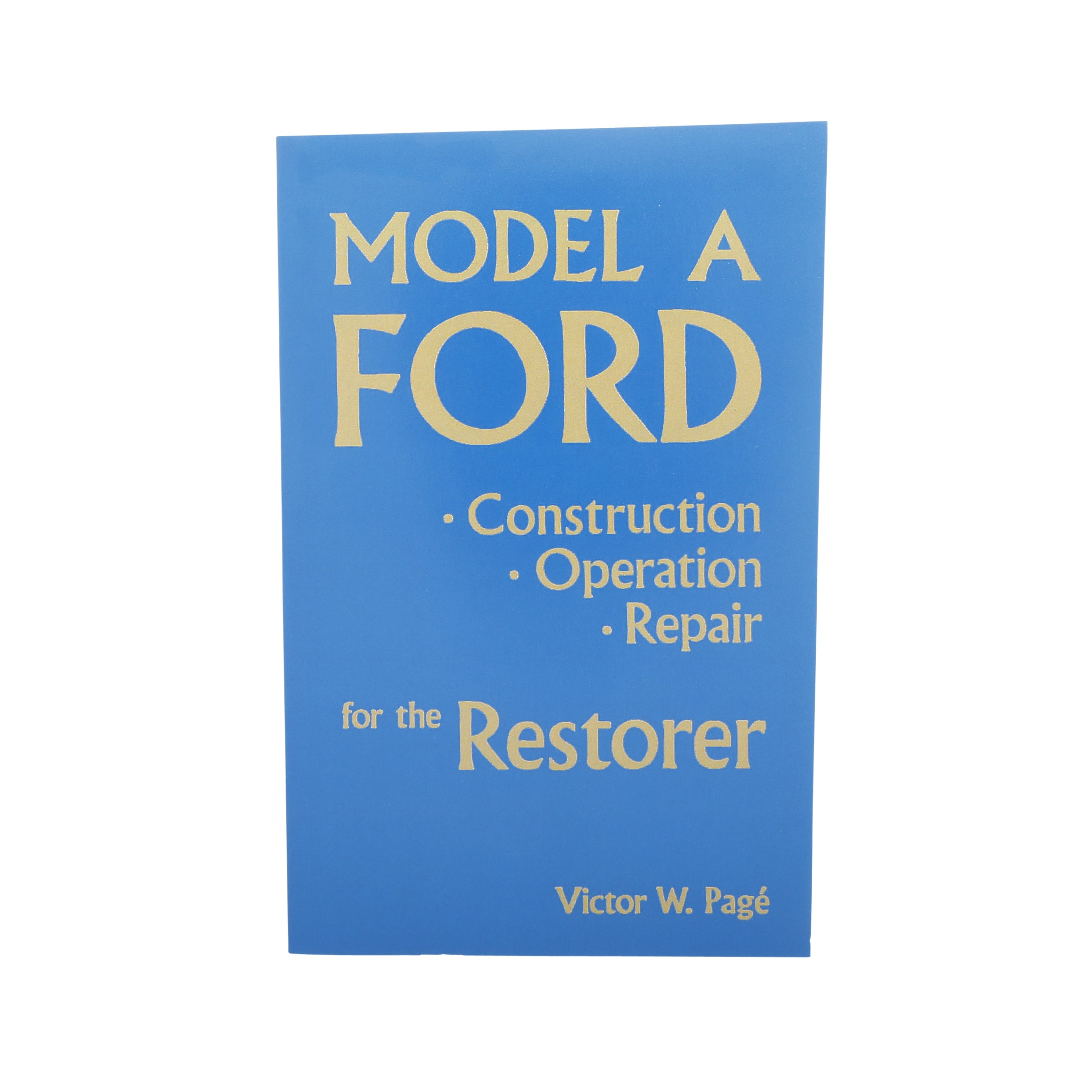Model A Ford Construction and Operation