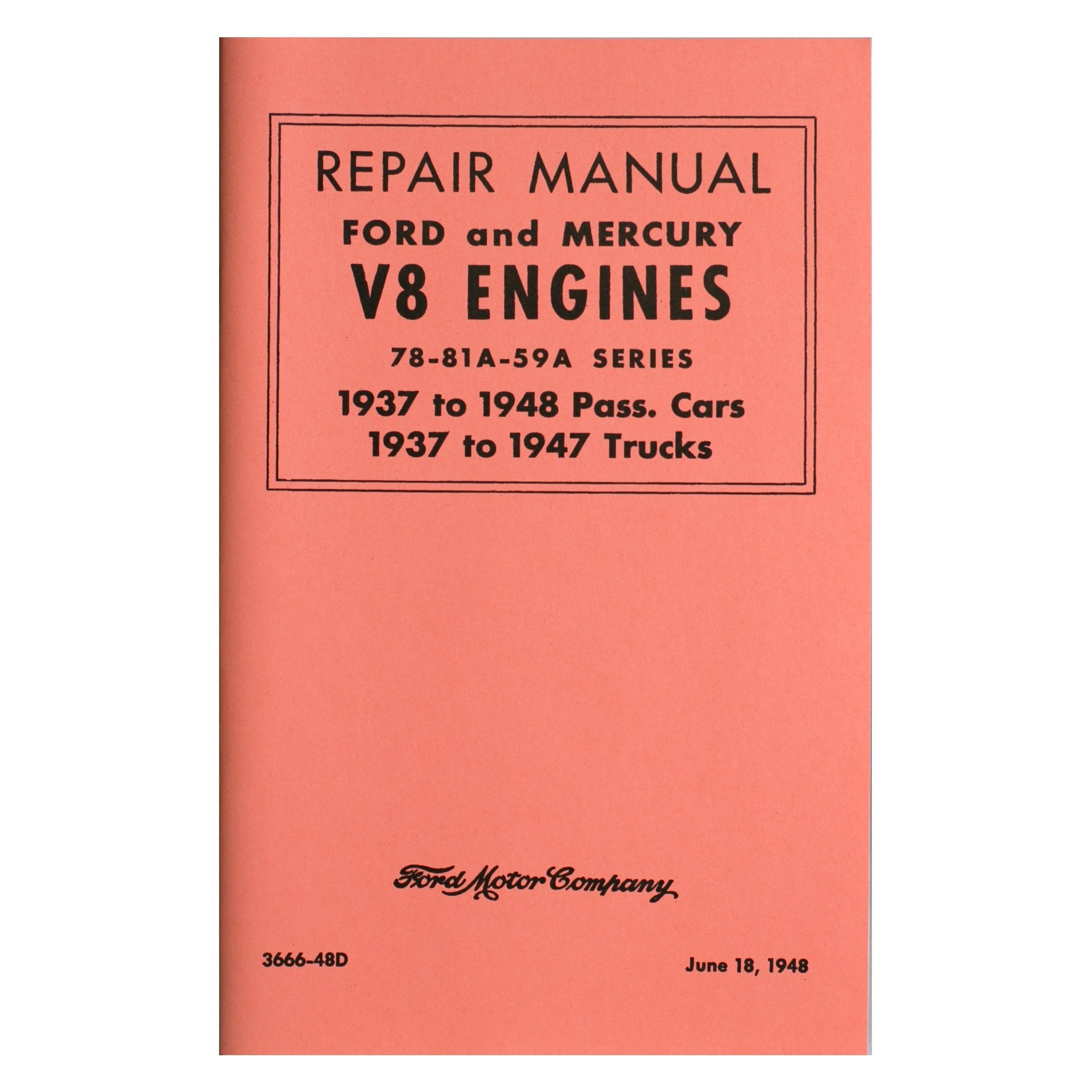 Repair Manual Ford & Mercury V-8