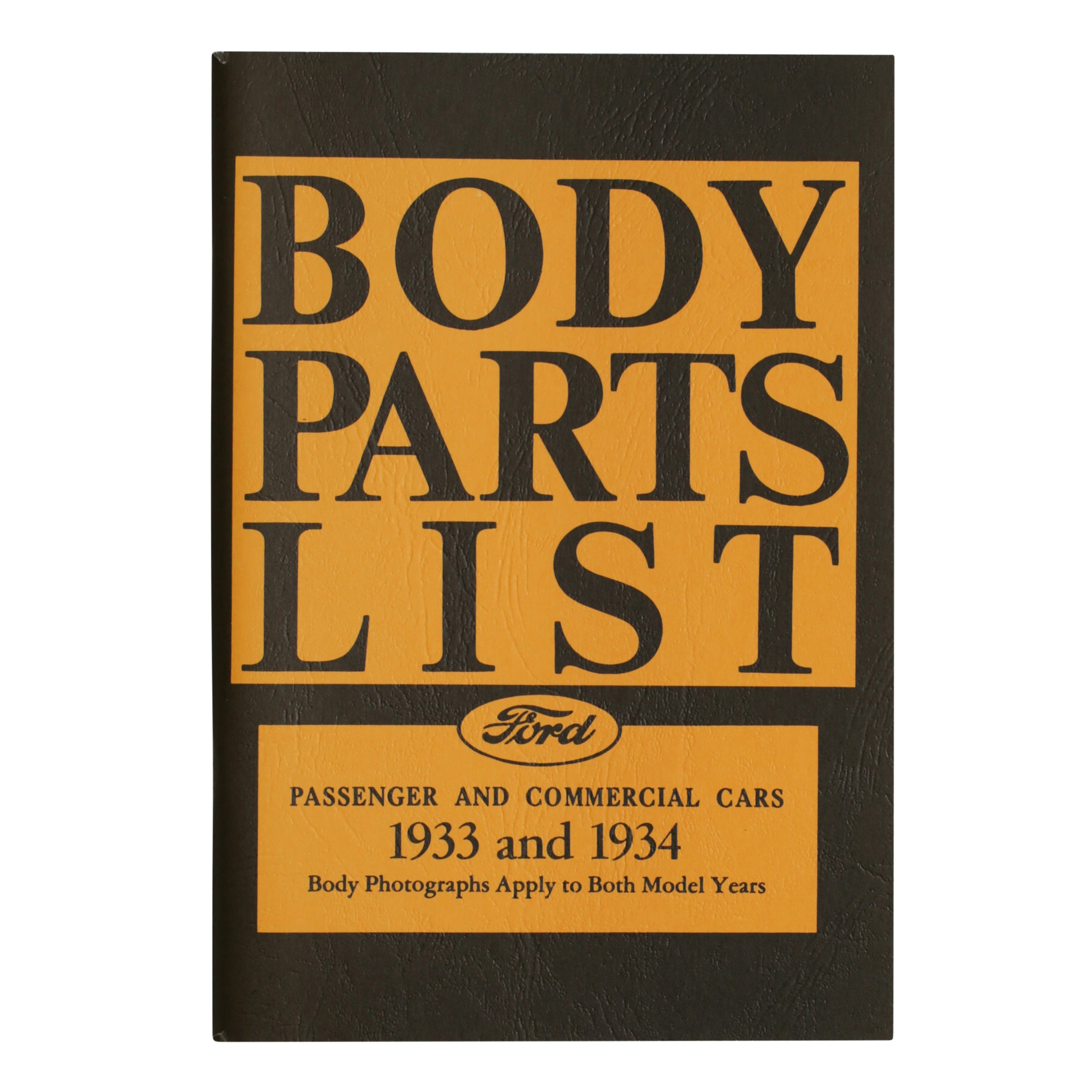 Ford Body Parts List • 1933-34 Ford