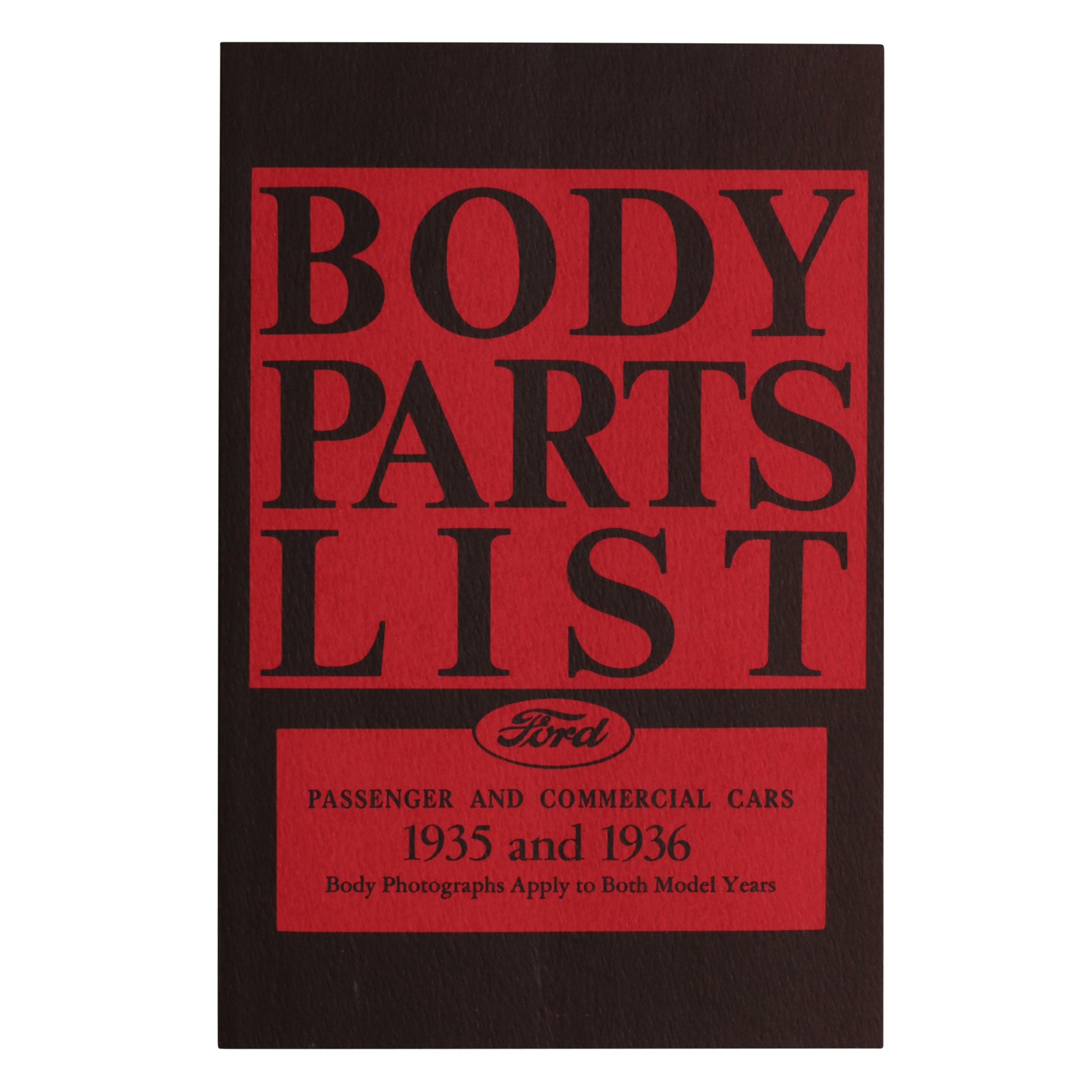 Ford Body Parts List • 1935-36 Ford