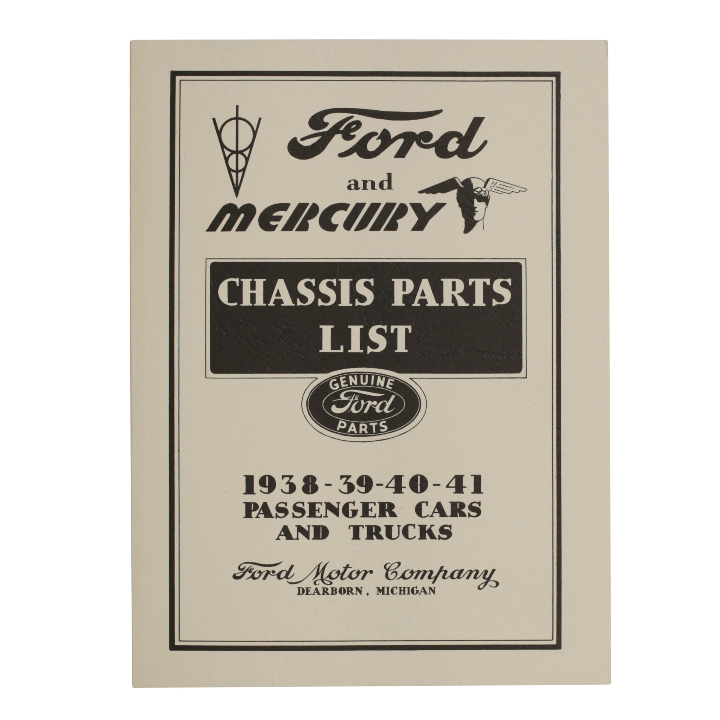 Ford Chassis Parts List • 1938-41 Ford